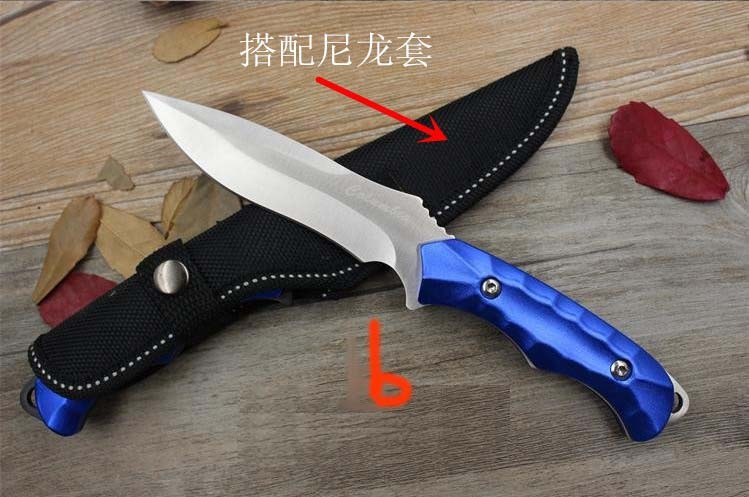 Buy Honor Hunting Tactical Fixed Knife With 5Cr13Mov Blade Aluminum Handle Pocket Camping Survival Straight EDC Knives Tools cheap