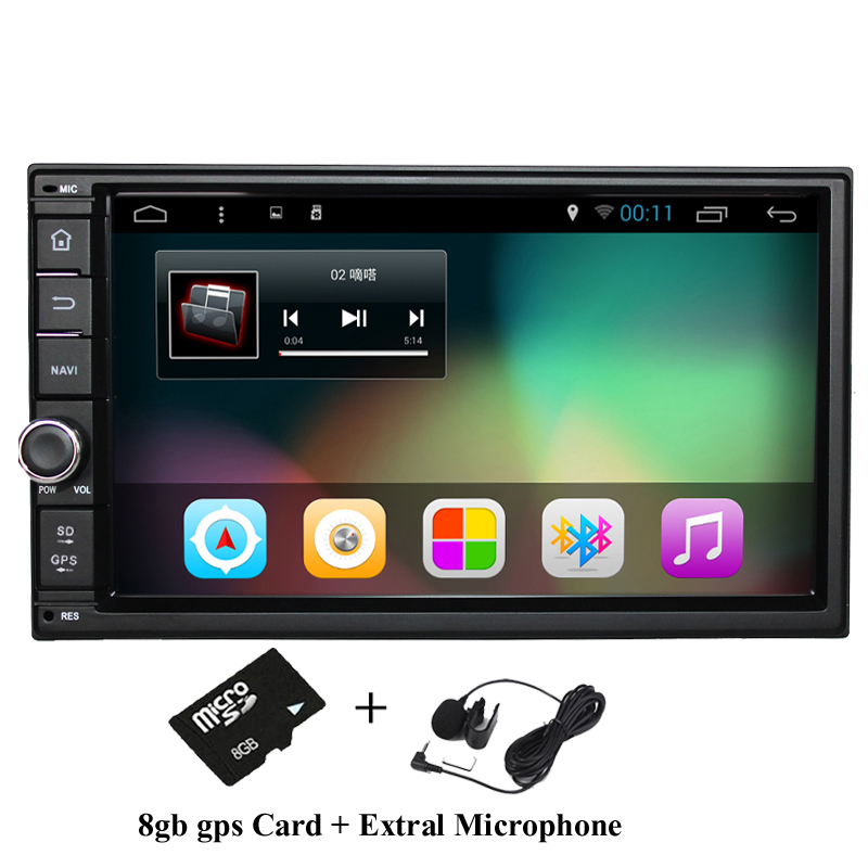 """7"""" 2Din 1024*600 Android 4.4 Car Tap PC Tablet 2 din Universal For Nissan GPS Navigation BT Radio Stereo Audio Player(No DVD)(China (Mainland))"""