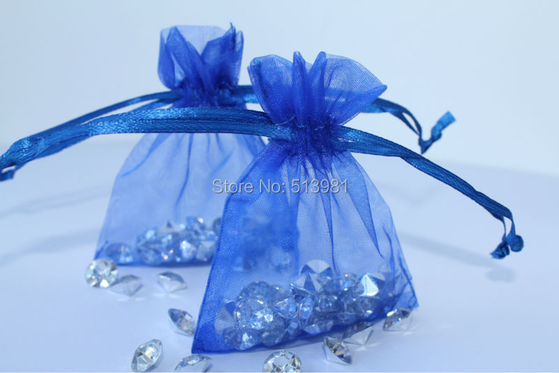 Free Shipping 100pcs/lot Royal blue Organza Wedding Gift Bags3X4 Inch Christmas Wedding ,best gift,guests feel at home(China (Mainland))