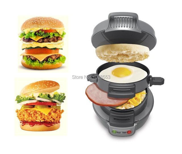 5 mins to make perfect hamburger mini breakfast sandwich for Perfect kitchen cookware