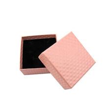 2019 스퀘어 링 목걸이 귀걸이 팔찌 웨딩 날짜 보석 선물 상자 섬세한 솔리드 컬러 보석 상자 포장 도매(China)