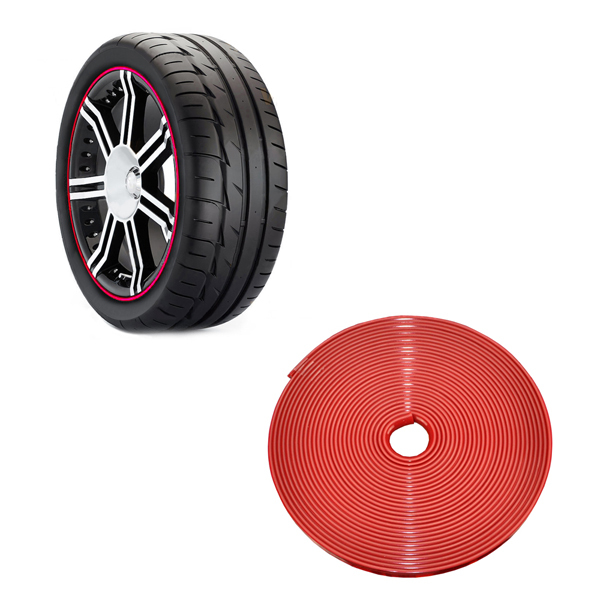 Car Vehicle Wheel Rim Care and maintenance Line Rubber Moulding 8M 3 Color (Please Remarks color)(China (Mainland))