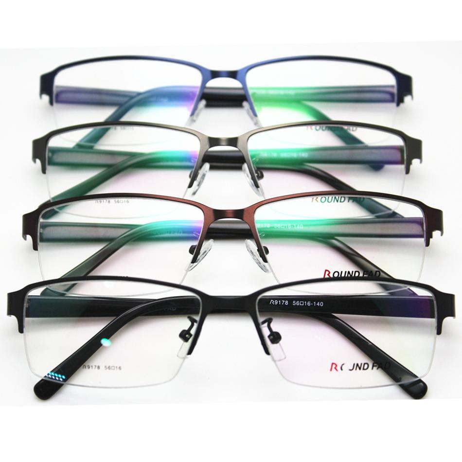 Eyeglasses Frame Boards : Half Frame Business Affairs Man Metal Spectacle Frame ...