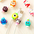 Cute Cartoon Cable Protector de cabo USB Cable Winder Cover Case For IPhone 5 5s 6