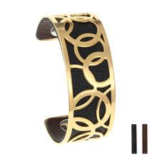 Legenstar Stainless Steel Silver Bracelets Bangles for Women Interchangeable Cuff Bracelet Femme Manchette 2019 Pulseras Mujer(China)