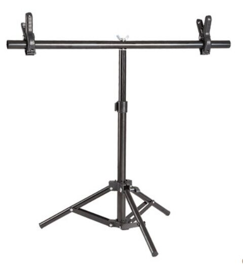 Photography Small T Shape Background Aluminum Alloy Support Stand Studio Accessories with 2 Clamps(China (Mainland))