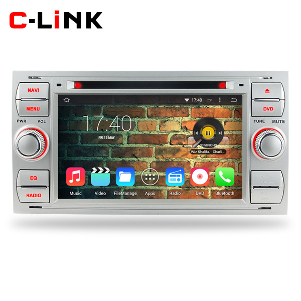 Silver Color Quad Core 1.6GHz 1024*600 Android 4.4 Car PC Video Player GPS Radio For Ford Focus C-MAX Fiesta Fusion Galaxy Kuga(China (Mainland))