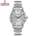 CHENXI Men Quartz Watch Men s Fashion Top luxury Brand Watches Silver Stainless Steel Watchband Casual