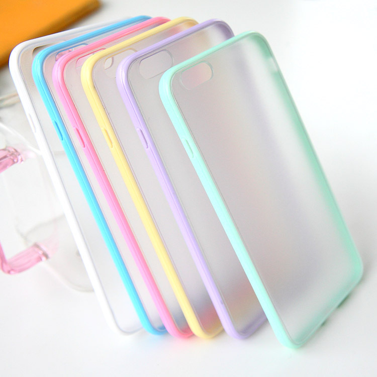 Fashion Slim Colorful TPU Frame Clear Case iPhone 6 6S 4.7 Transparent Matte Hard Phone Back Cover Plus 5.5 - Three-A Group Co.,Ltd store
