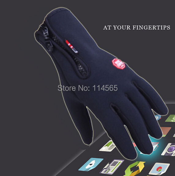 Warm Skate windproof glove screen touch gloves outdoor sport hiking cycling riding - Black Tuesday store