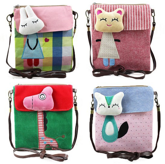 Hot Sale Cloth Shoulder bag Casual Cartoon Toy Wallet Cute Messenger Bags VQB12(China (Mainland))