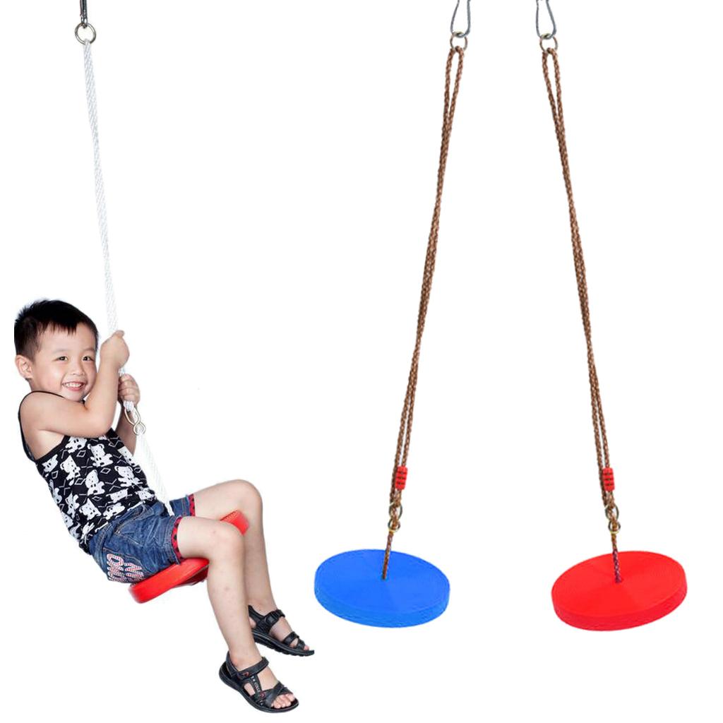 2 Pieces Kids/Children Outdoor Tree Hanging Seat Monkey Disc Rope Swing Garden Accessories Playground Park Toy