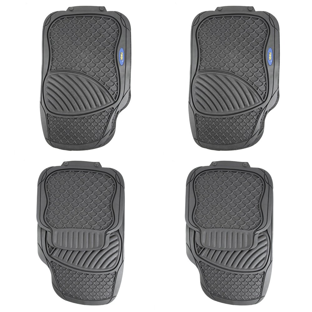 Vauxhall zafira rubber floor mats - 4 Piece Car Rubber Floor Mat Driver Seat Ridged Water Resistant Antiskid Rubber Floor Mat The Four Seasons General Car Styling