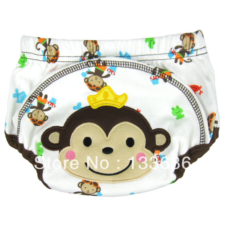 Baby Training Pants Trainer Toddler Potty Waterproof Cartoon Monkey Cloth Diapers Nappies M/L/XL - vogue Store's store