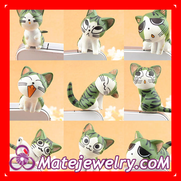 9 pcs/set Cute Earphone Jack Accessory For Smart Phone Headphone Dust Plug Cat Wholesale At Cheap Price,EA1028(China (Mainland))