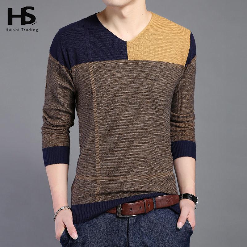 Hot sale long sleeve sweater shirt men v neck pullover men for Mens long sleeve pullover shirts