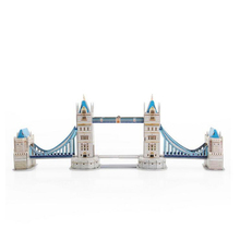 3D three-dimensional puzzle block Splicing building blocks Tower Bridge of London Model Adult puzzle Model building Kits gifts(China (Mainland))