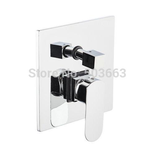 Ouboni новой площади душ и Смеситель для ванны латунный кран с переключателем хром калибратора 5500a регулирующий Клапан