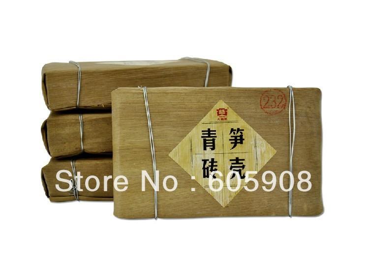 Menghai Dayi Bamboo Shell Puer Brick 2012 Raw  Free Shipping!<br><br>Aliexpress