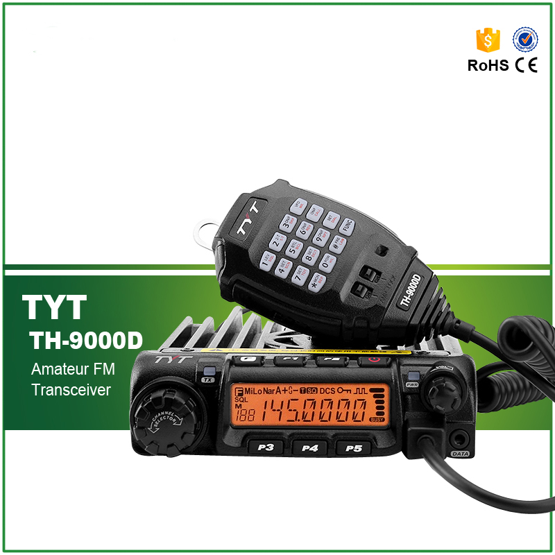 TYT Vehicle Transceiver New Model TH-9000D With Maximum 60Watts Output Power TH-9000D VHF 136-174MHZ Walkie Talkie(China (Mainland))