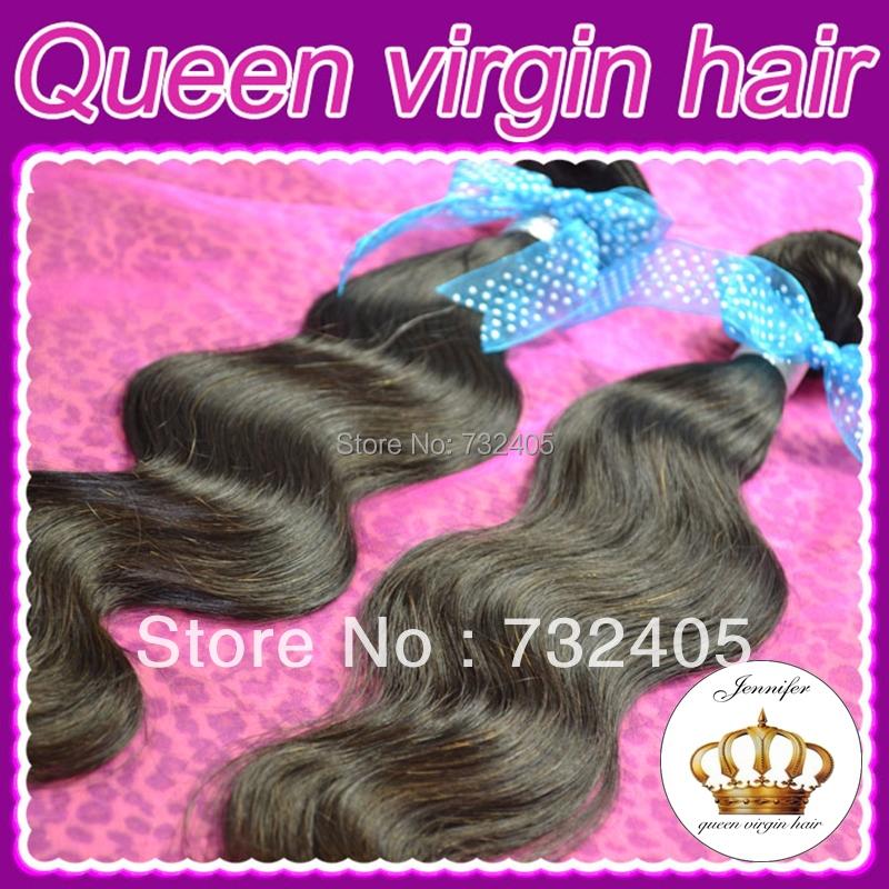 Здесь можно купить  Queen Hair Product Brazilian  Body Wave 100% Unprocessed human hair   3pcs/lot DHL Free shipping  Волосы и аксессуары