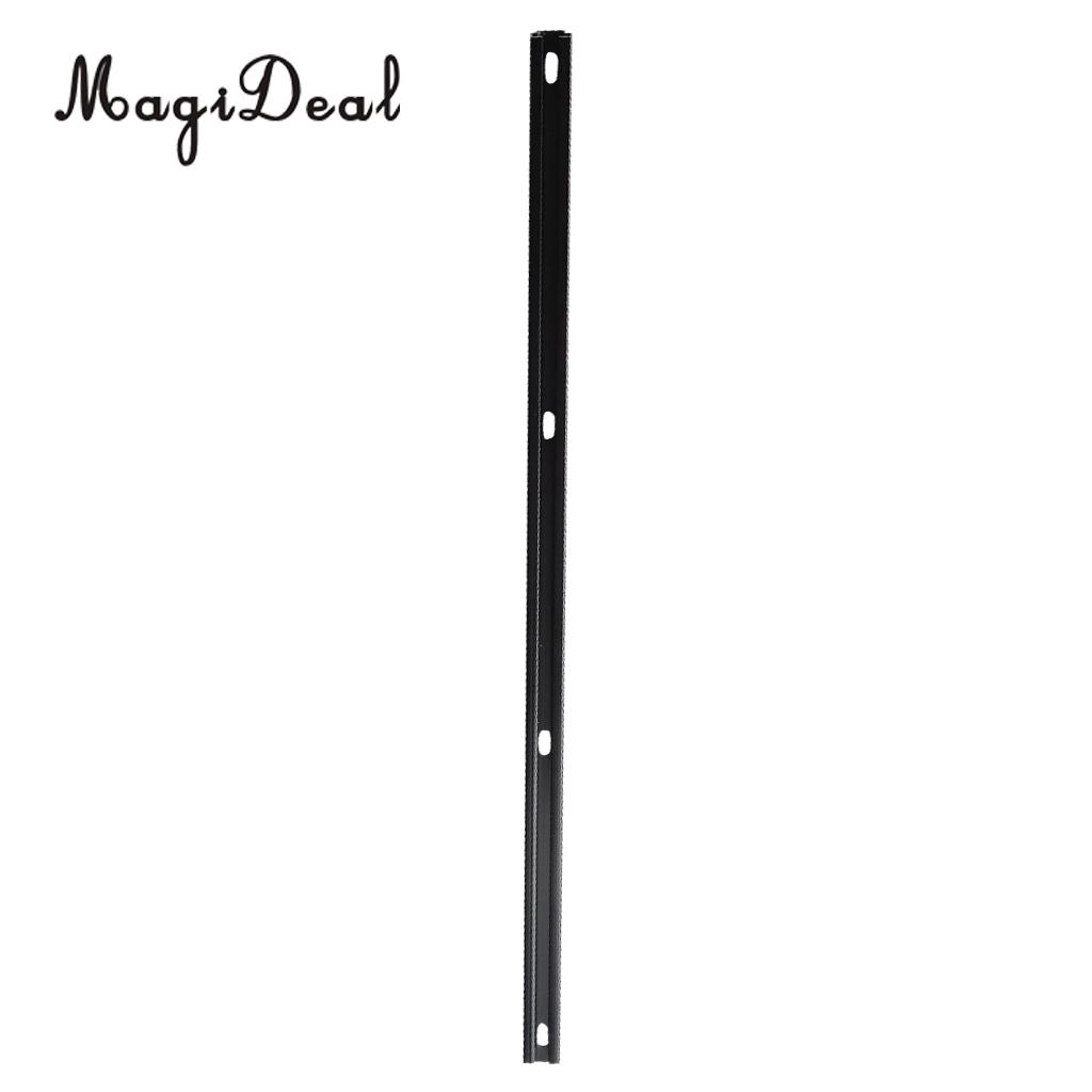 MagiDeal Aluminum 60cm Long Marine Boat Canoe Kayak Rail Mount Base Bracket for Inflatable Boat With 4 Screw DIY Accessory Black