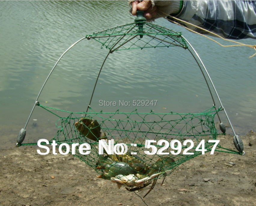 Patent Durable Crabbing Net,Fully Collapsible crabbing trap, Stainless Steel Frame with net, free shipping(China (Mainland))