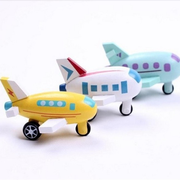 2014 New wooden mini airplane models kit wood plane baby learning & education toys gifts for children Kids hot free shipping(China (Mainland))