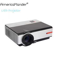 2016 Newest 7inch LCD LED Brightest Full HD DLP Business Advertising Education data show 3D Projector Beamer Projektor Proyector(China (Mainland))
