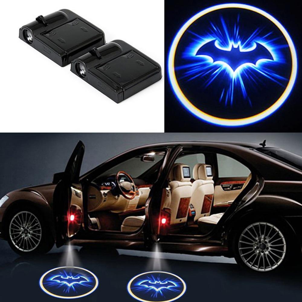 2x led car door welcome light laser car door shadow led projector logo batman wireless car. Black Bedroom Furniture Sets. Home Design Ideas
