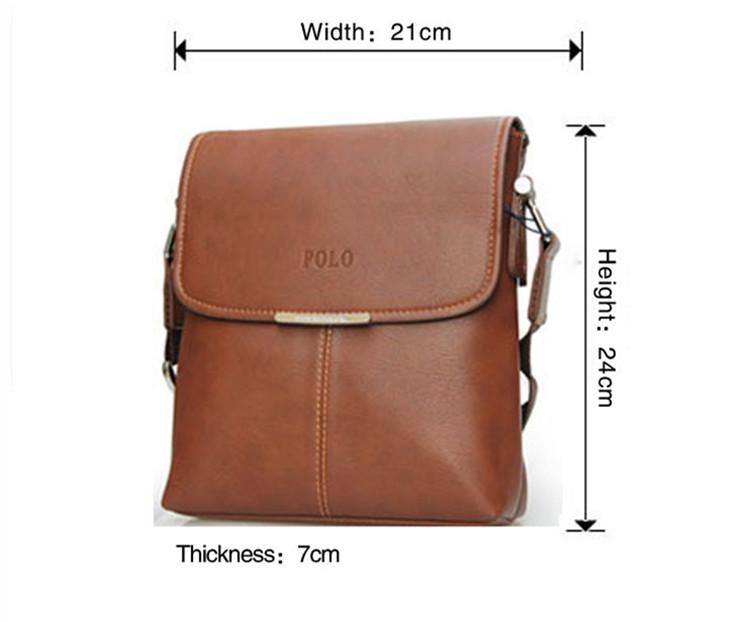 Name brand high quality men messenger bags Pu leather male shoulder bag ,crossbody bag(China (Mainland))