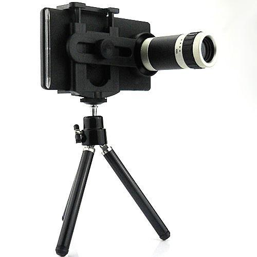 8X Magnification Mobile Phone zoom Telescope Magnifier Optical Camera Lens+Tripod For Sony Xperia SP M35h