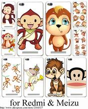 Cartoon monkey Hard Transparent Case Cover Redmi 2 2A 3 Pro 3S Note & Meizu M2 mini M3 - ShenZhen Caixi Co.,Ltd Store store