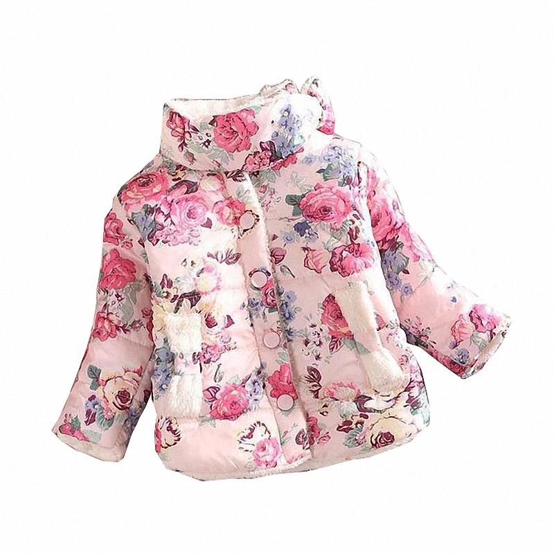 Гаджет  girls warm coat baby winter long sleeve flower jacket children cotton-padded clothes kids christmas outwear a-061 None Детские товары