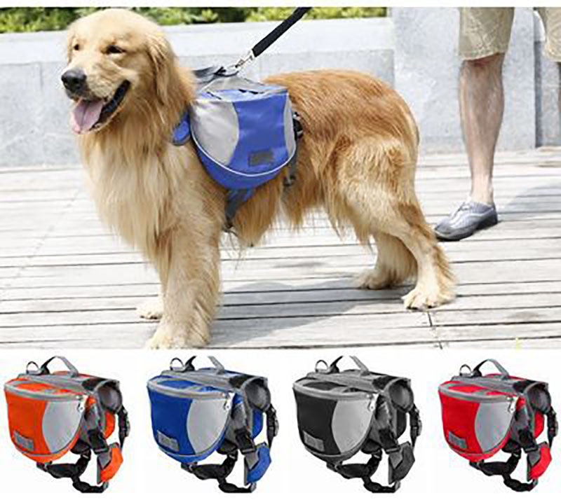 Pack Dog Bag Saddle Backpack Medium and Large Big Dogs Bag for Outdoor Hiking Camping Training Pet Carrier Product(China (Mainland))