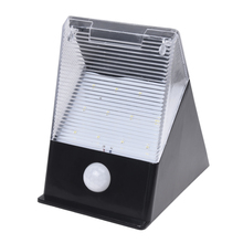 Solar Spotlight 12 LED wall light with motion detector outdoor lamp wall lamp white(China (Mainland))
