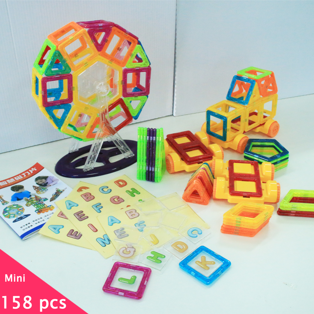 15Mini Model & Building Magnetic Blocks Toy Set Designer Construction Plastic Educational Toys Kids Gift - ZW toy store