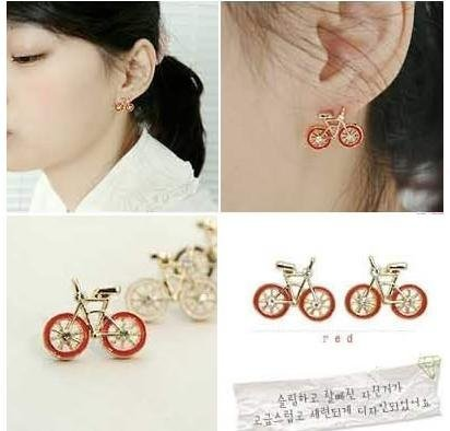 HOT!wholesale NEW bike fashion earrings/fashion jewelry/ladies' earrings+Free shipping