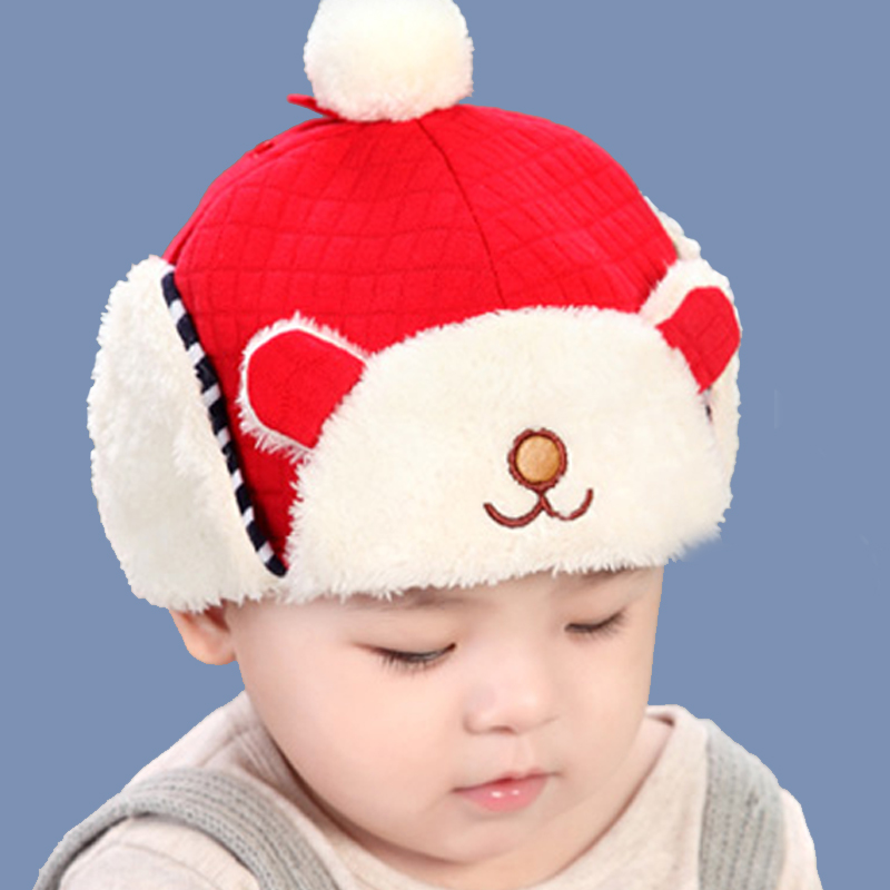 Winter baby Hats & Caps Head circumference 48-52 cm 1 - 2 - 4 years child baby lei feng cap plus velvet winter hat ear pocket(China (Mainland))