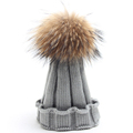 Hot Sales 1 6 Years Baby Pom Pom Hat Winter New Arrival Knit Wool Caps With