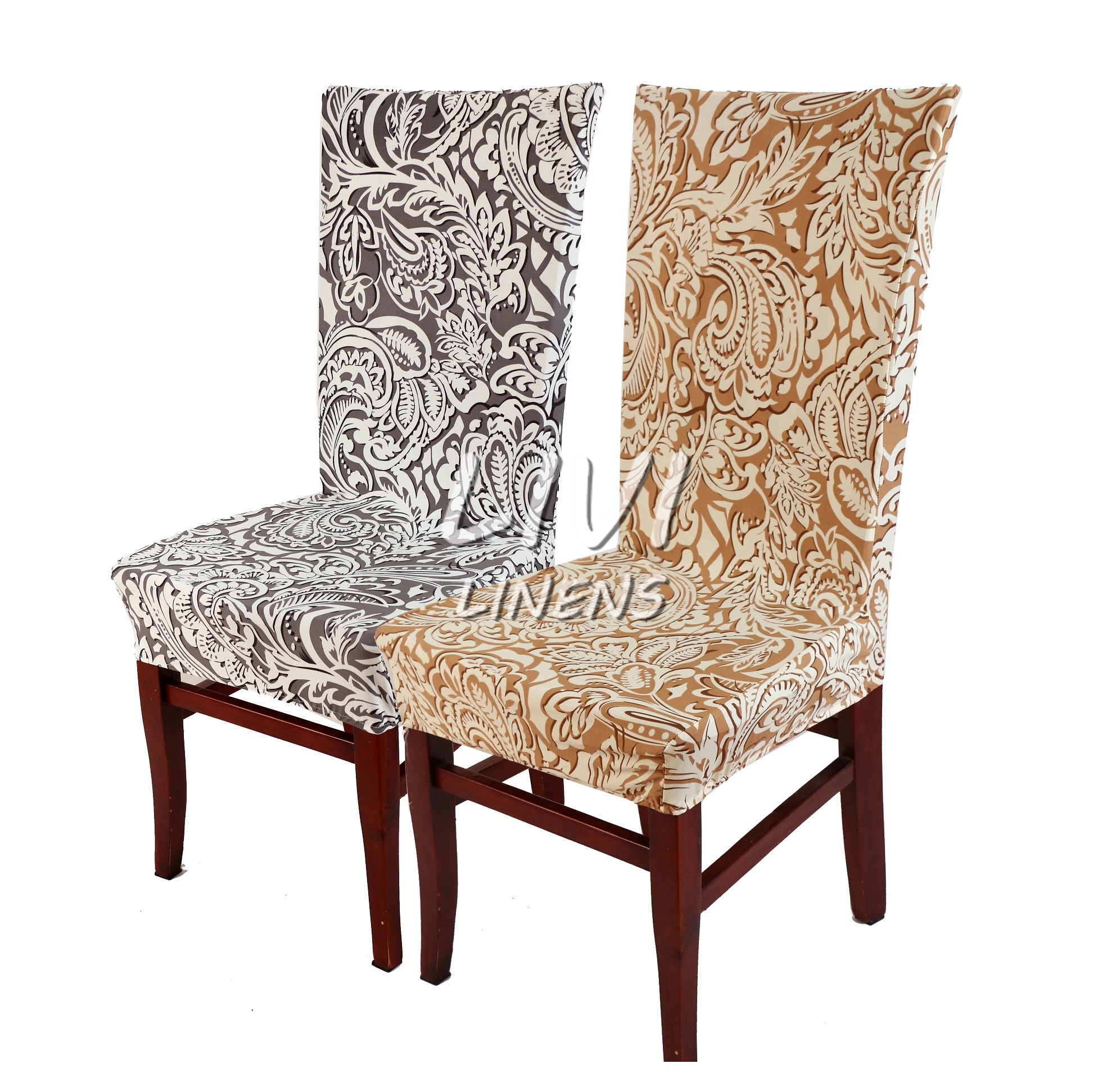 1PCS Printing flower Spandex Stretch Dining Chair Cover Restaurant For Weddings Banquet Folding Hotel Chair Covering(China (Mainland))