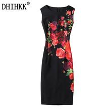 Buy DHIHKK 2017 New Sexy Women Elegant Summer Dresses Women O Neck Red rose Print Dresses Sexy Sheath Dress Party Dresses Vestidos for $8.60 in AliExpress store