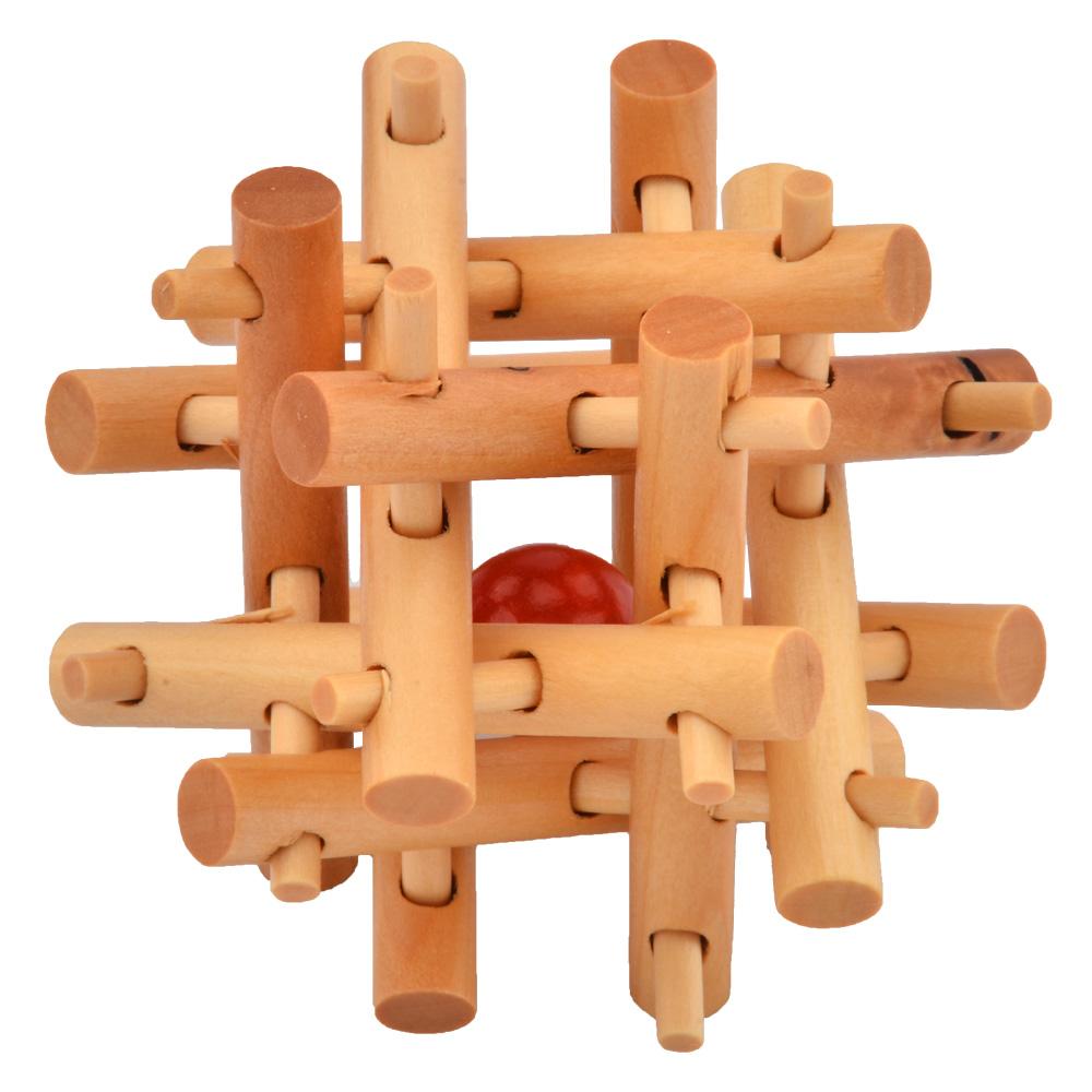 Brain Training Toy 12 Thick & Thin Wooden Cube/Educational Puzzle Set,Kong Ming/Luban Lock Adult Children - Shenzhen Lightake Technology Co.,Ltd. store