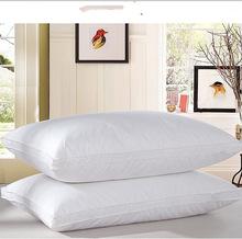 Home Textile Sleeping Pillow 100% goose down light white Pillow Zero Pressure Memory Pillow Neck Health 48*74cm cotton pillow(China (Mainland))