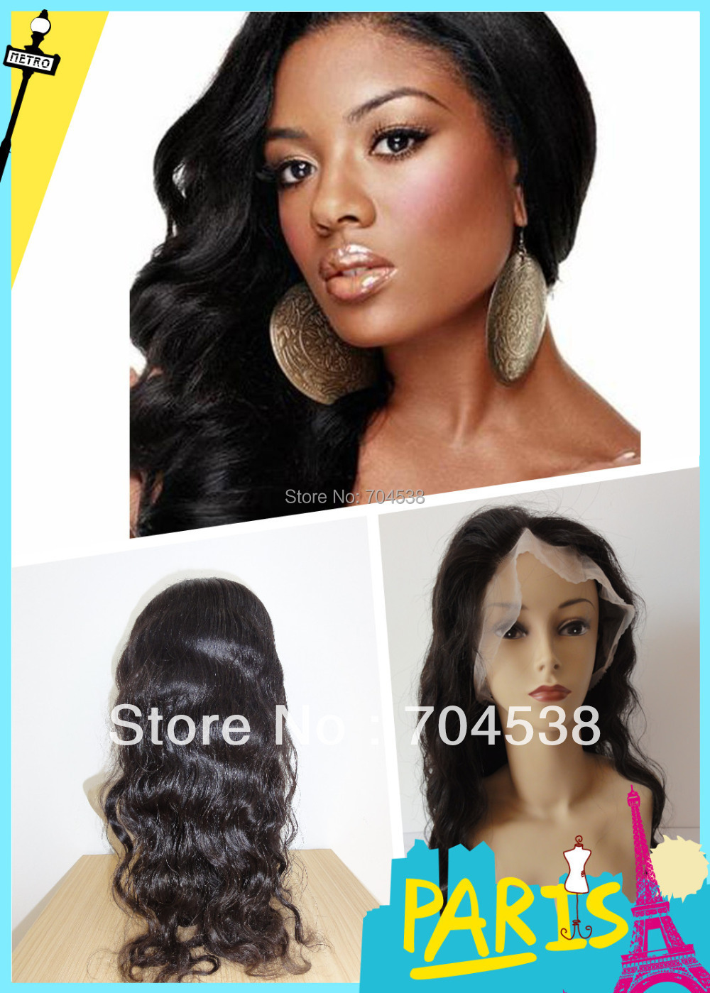 free shipping ! brazilian hair Full lace wig   body wave  accept stock order and custom order
