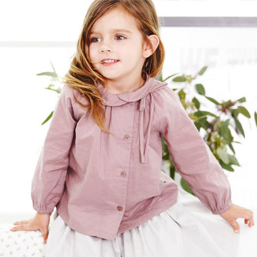 European style high-quality girls purple shirt, kids autumn and winter tops&blouse,children clothing