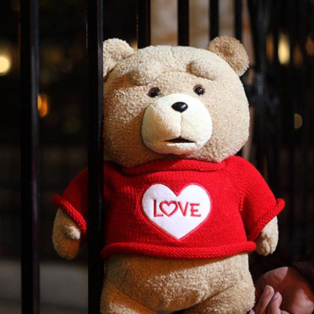2015 фильма мишка тед 2 плюшевые игрушки в фартук англия любовь свитер 48 см мягкие тед медведя плюшевые куклы