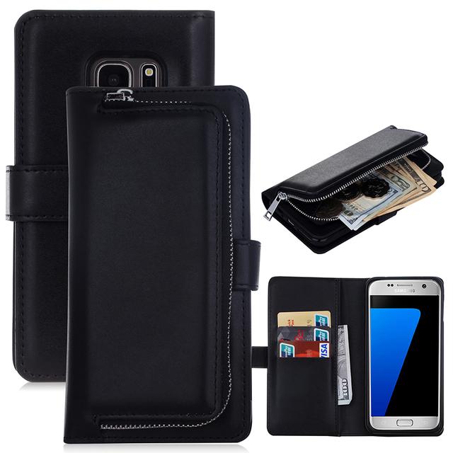 OneMinus Многофункциональный Бумажник Кожаный Чехол Для Samsung Galaxy S7 S7 край S5 Молния Кошелек Чехол Сумка Повелительницы Для S6 Note7