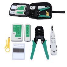 Portable Ethernet Network Cable Tester rj45 Kit RJ45 Crimper Crimping tool rj45 Punch Down RJ11 Cat5 Cat6 Wire Line Detector