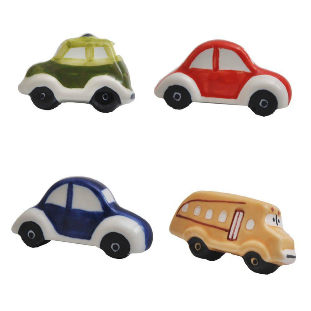Children knobs ceramic cartoon cars drawer cabinet knobs for Children s bureau knobs